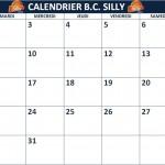Calendrier des activités du B.C. Silly